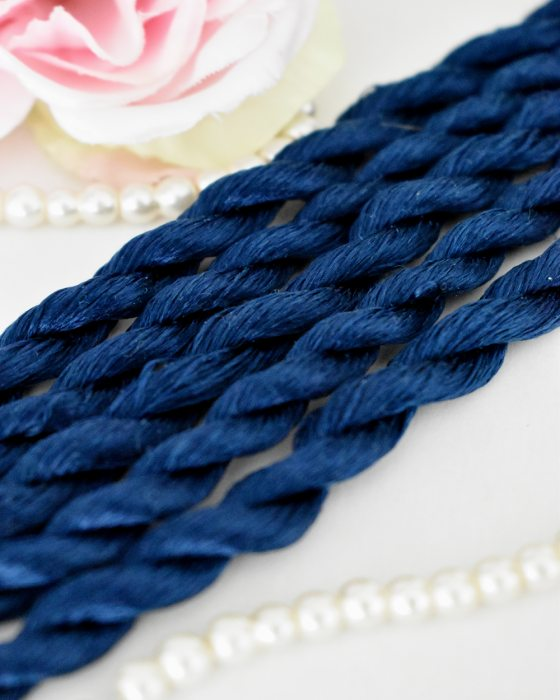Denim color Non-Twisted Flat Silk Embroidery Thread