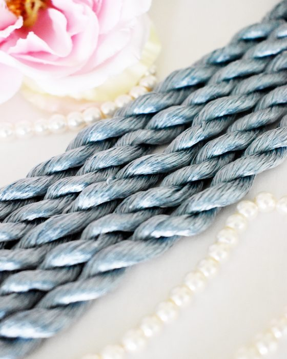 Clear navy color Non-Twisted Flat Silk Embroidery Thread