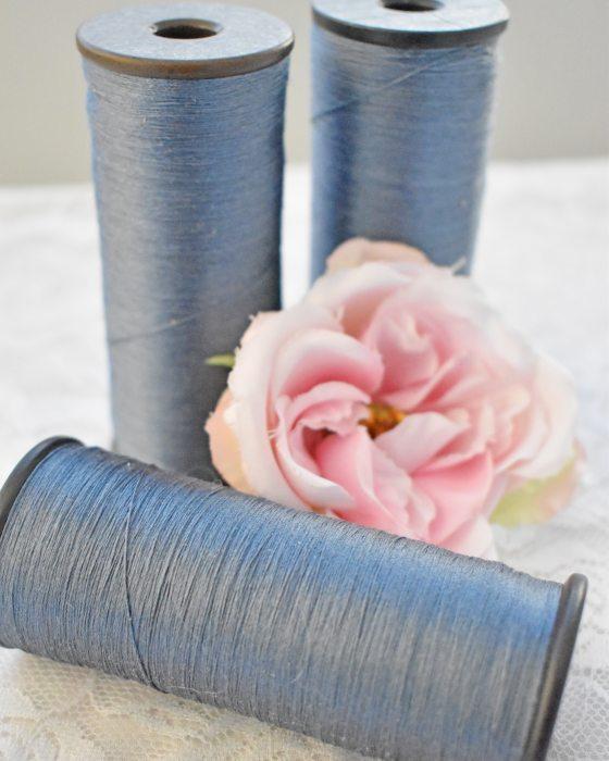 Vintage Pure Silk Thread Blue Color