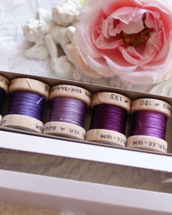 Purple color Pack 6 shades Soie Perle