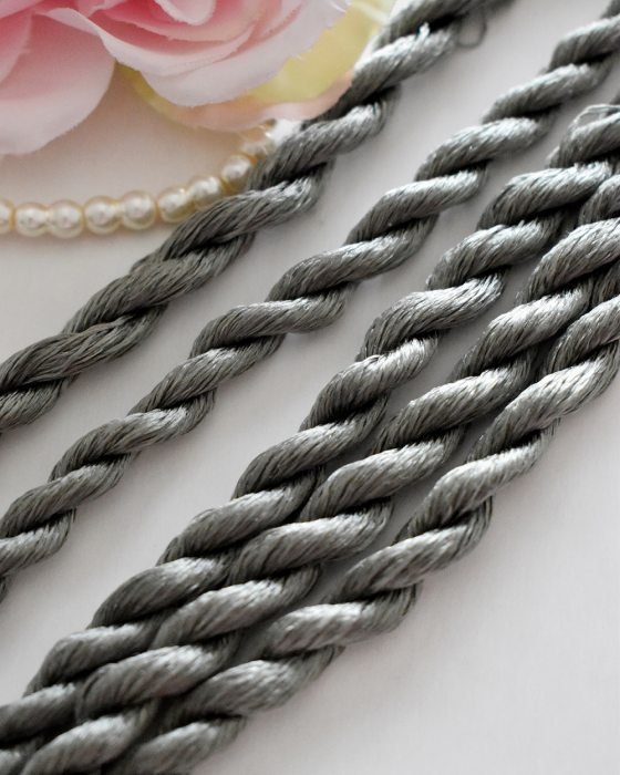 Grey green color Non-Twisted Flat Silk Embroidery Thread