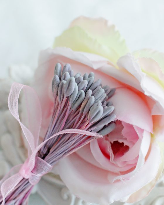 DIY Grey color Flower stamen - Flower Peps