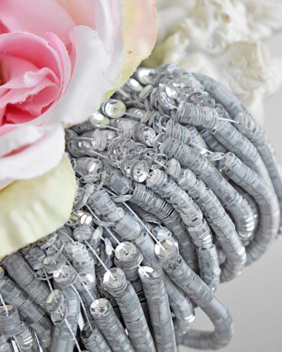 Metallic Silver color Sequins Cup 4mm