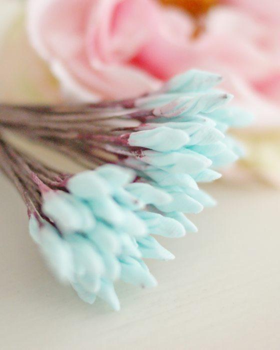 DIY Turquoize color Flower stamen - Flower Peps