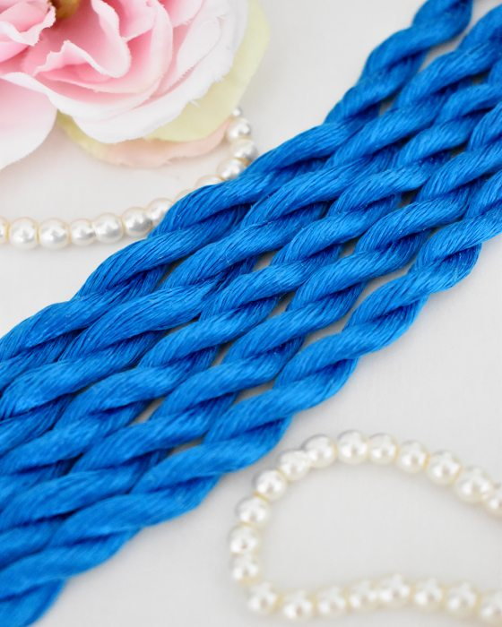 Cobalt color Non-Twisted Flat Silk Embroidery Thread