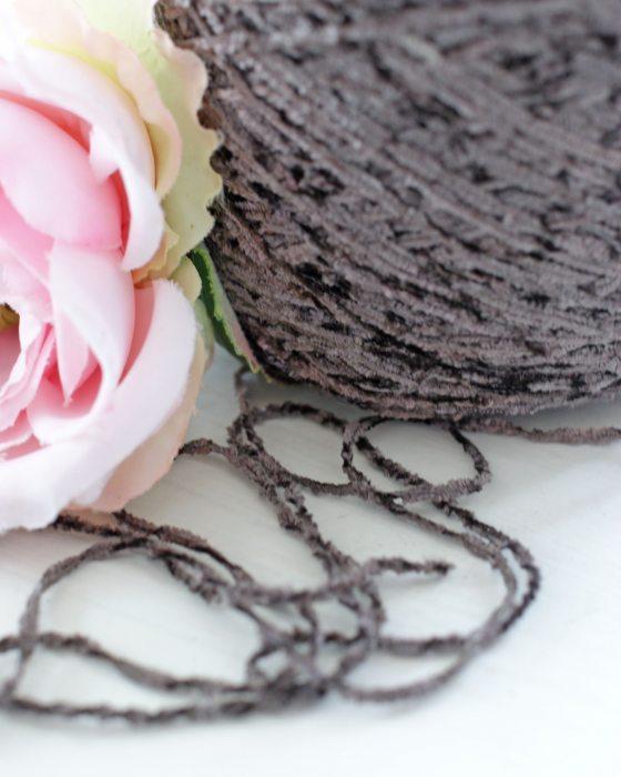 Greyish Brown color Chenille Thread