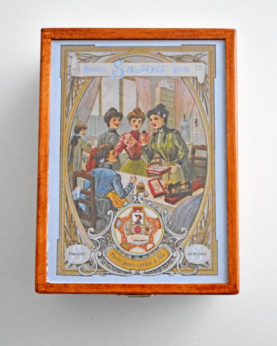 Sajou Wooden storage box Sewing Ladies