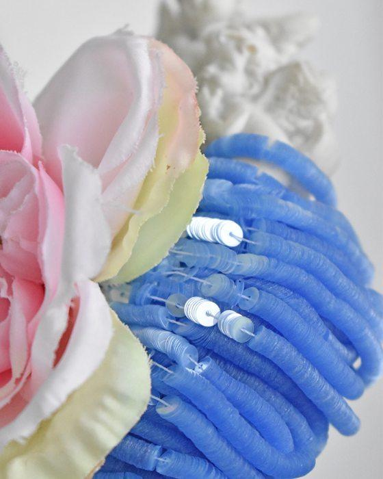 Glossy Cristal light Greyish Blue Sequins Flat 4mm