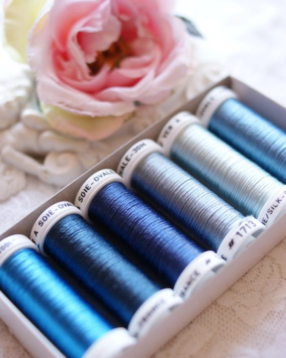 Stormy Blue color Pack 6 shades Soie Ovale