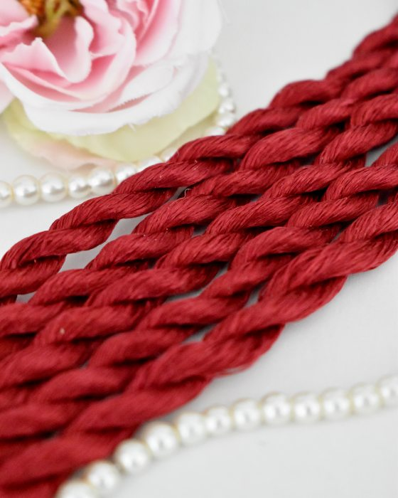 Ruby color Non-Twisted Flat Silk Embroidery Thread