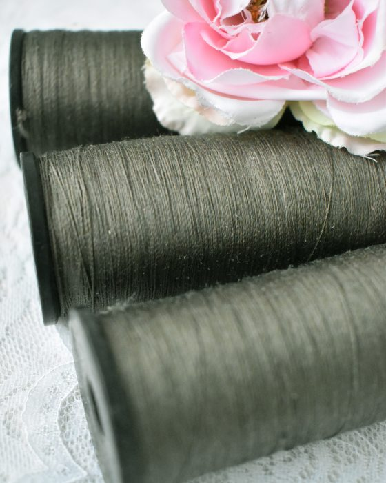 Vintage Pure Silk Thread Sage Green Color