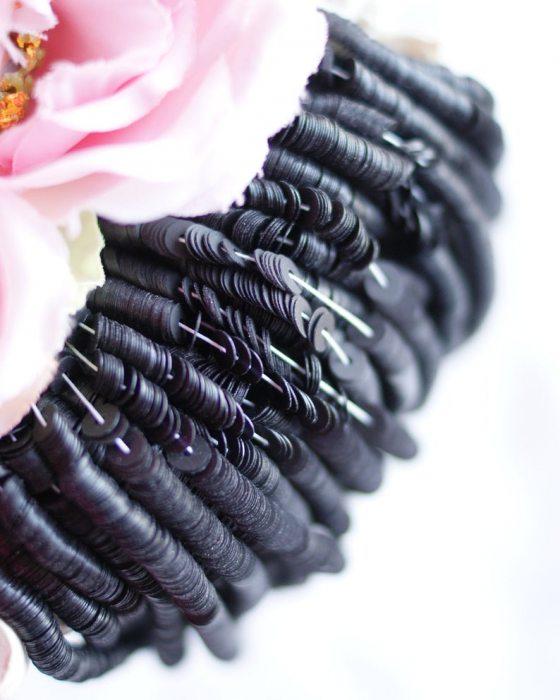 Fancy Black color Flat 4mm