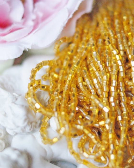 Vintage Gold color Cut beads