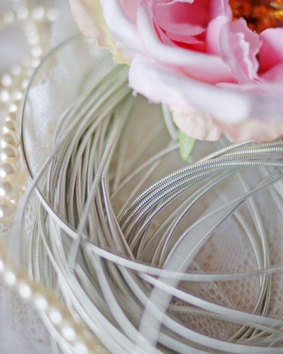 Silver color Circular Purl
