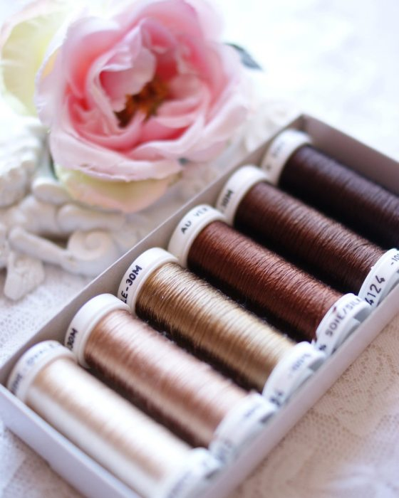 Brown color Pack 6 shades Soie Ovale
