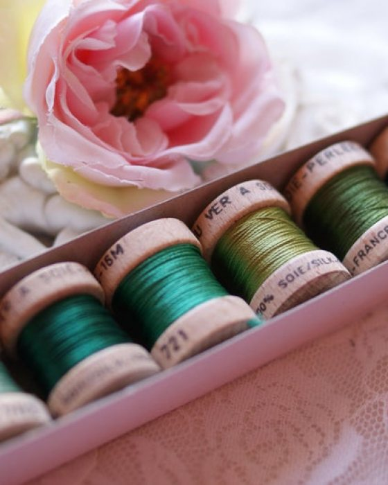 Green color Pack 6 shades Soie Perle