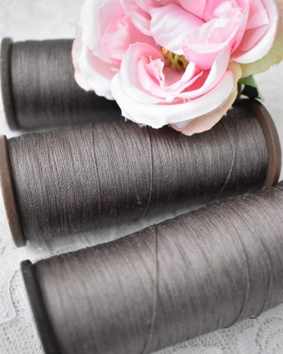 Vintage Pure Silk Thread Stone grey Color