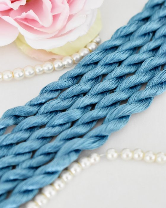 Capri blue color Non-Twisted Flat Silk Embroidery Thread