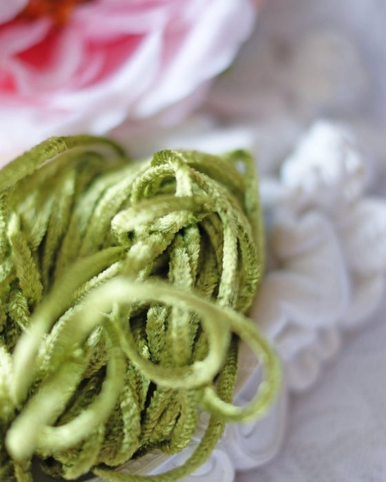 Chartreuse Green Rayon Chenille
