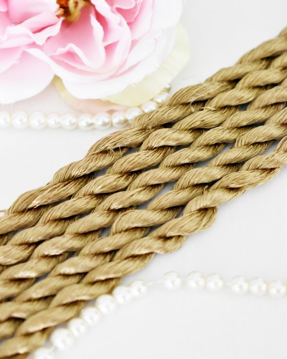 Nougat color Non-Twisted Flat Silk Embroidery Thread