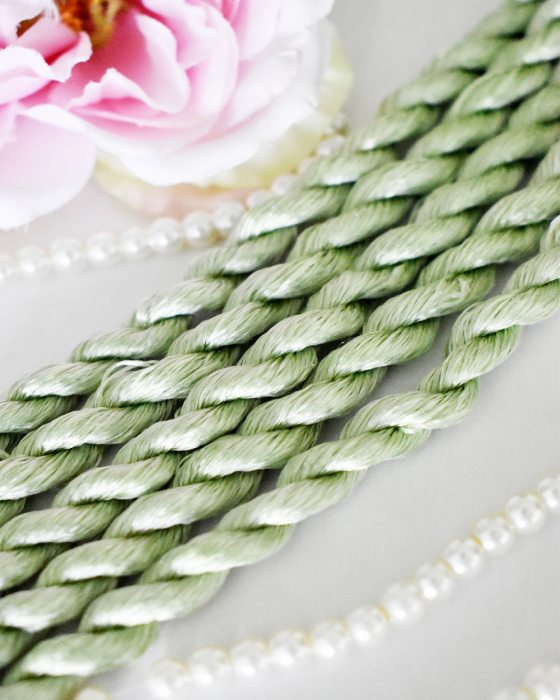 Celadon color Non-Twisted Flat Silk Embroidery Thread