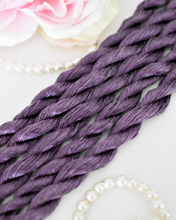 Amethyst color Non-Twisted Flat Silk Embroidery Thread