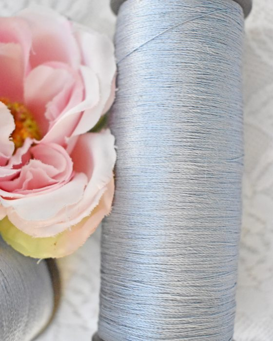 Vintage Pure Silk Thread Light Blue Color