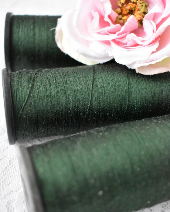 Vintage Pure Silk Thread Moss Green Color