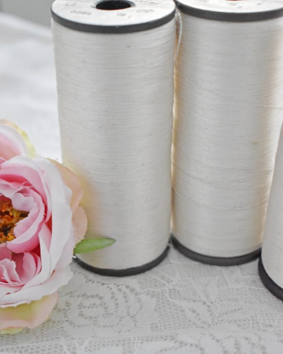 Vintage pure silk thread Off-white color