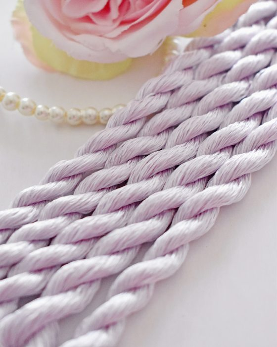 Light purple color Non-Twisted Flat Silk Embroidery Thread