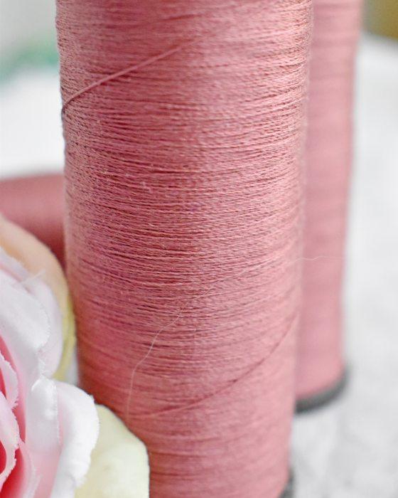 Vintage Pure Silk Thread Old Rose Color
