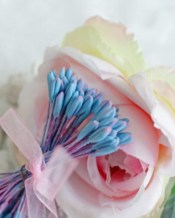 DIY Light Blue color Flower stamen - Flower Peps