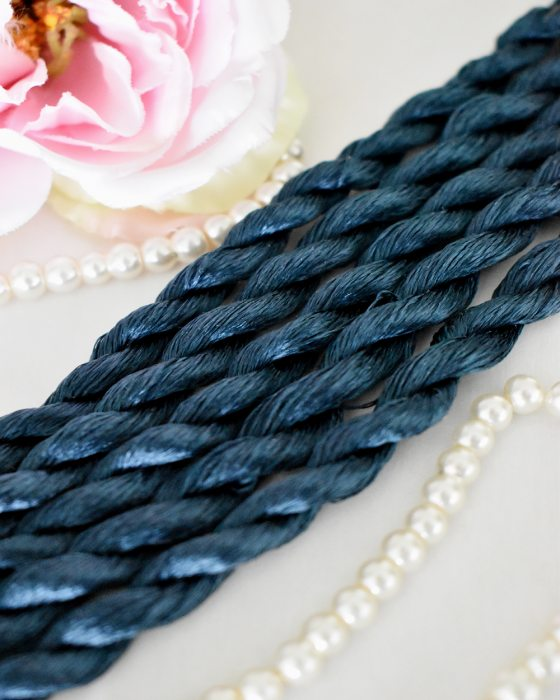 True blue color Non-Twisted Flat Silk Embroidery Thread