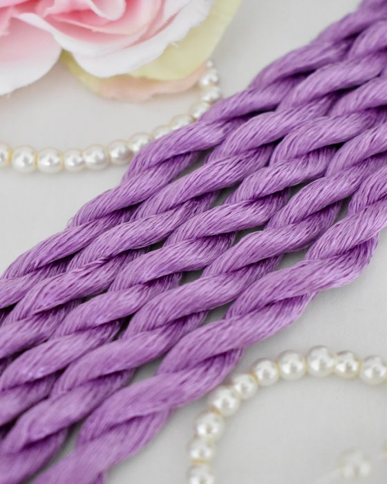 Sweer Pea color Non-Twisted Flat Silk Embroidery Thread