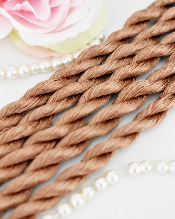 Hazelnut color Non-Twisted Flat Silk Embroidery Thread