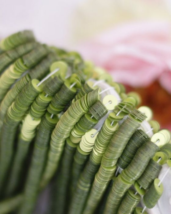 Metal Green Lime color Flat 4mm
