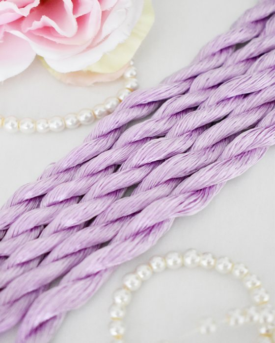 Petal color Non-Twisted Flat Silk Embroidery Thread