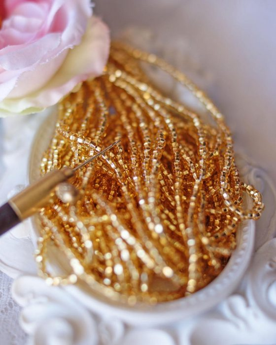 Round Gold Beads strands